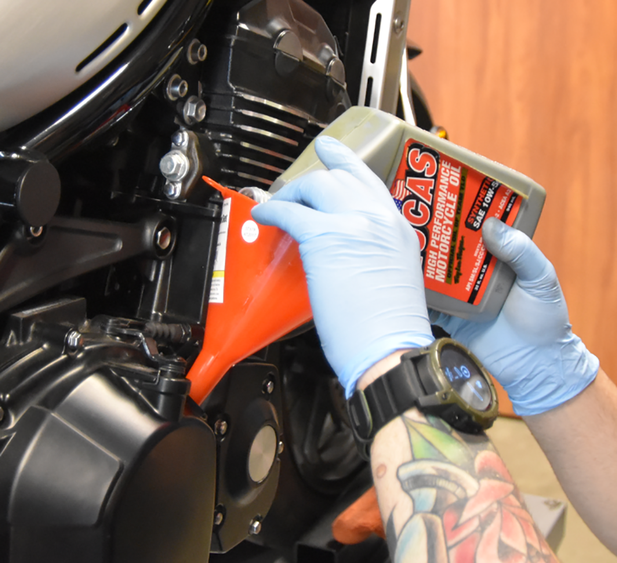 Sportbike Oil Change Facts and Basics on Countersteer