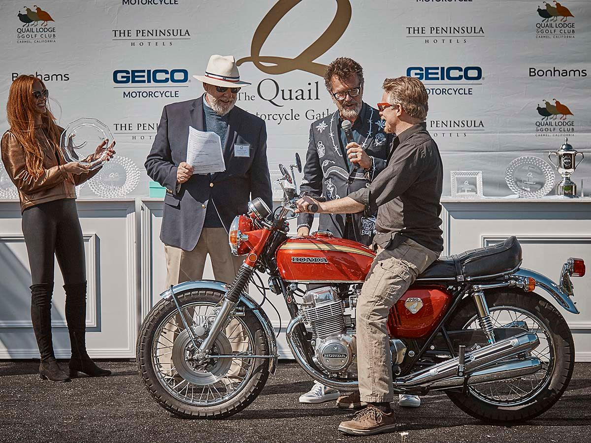 "1969 Honda CB750 Sandcast Wins ""Best of Show"" at 2019 Quail Motorcycle Gathering"