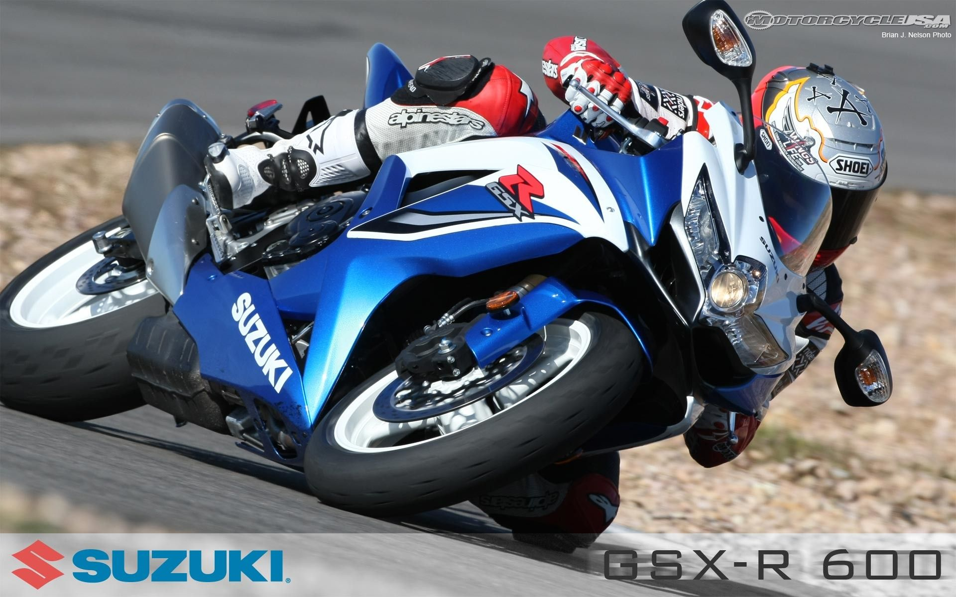 2009 Suzuki GSX-R600 Comparison on Countersteer