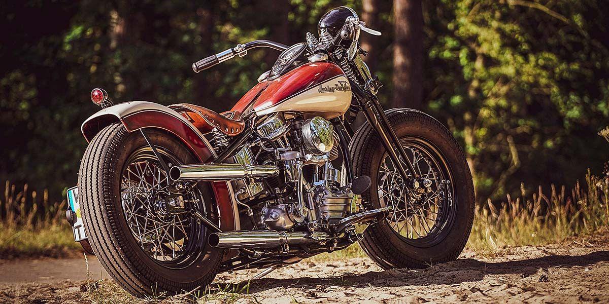 Thunderbike Builds One Bad to the Bone 1956 Harley FL Bobber