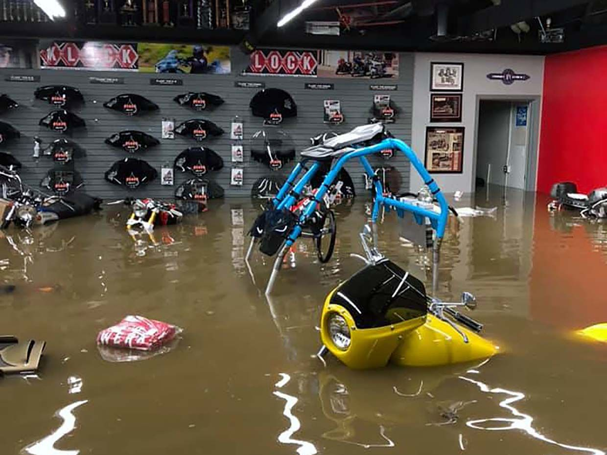 Klock Werks Flooded After Powerful Storms Rock Mitchell