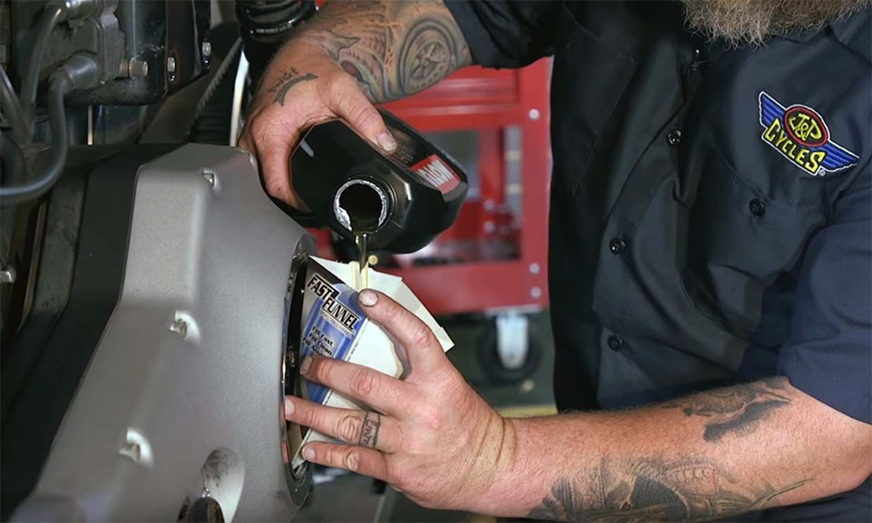 How To Change Primary Oil on a Harley Dyna