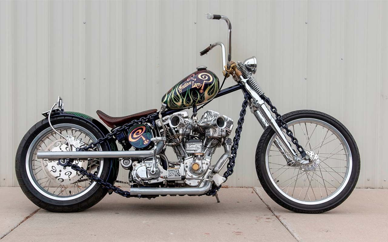 Indian Larry's Chain of Mystery & Grease Monkey For Sale in Mecum's Vegas Auction