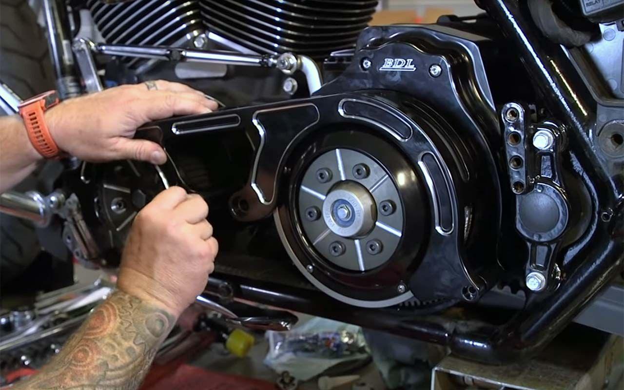 BDL Belt Drive Install on a Milwaukee 8 Harley-Davidson Touring Bike