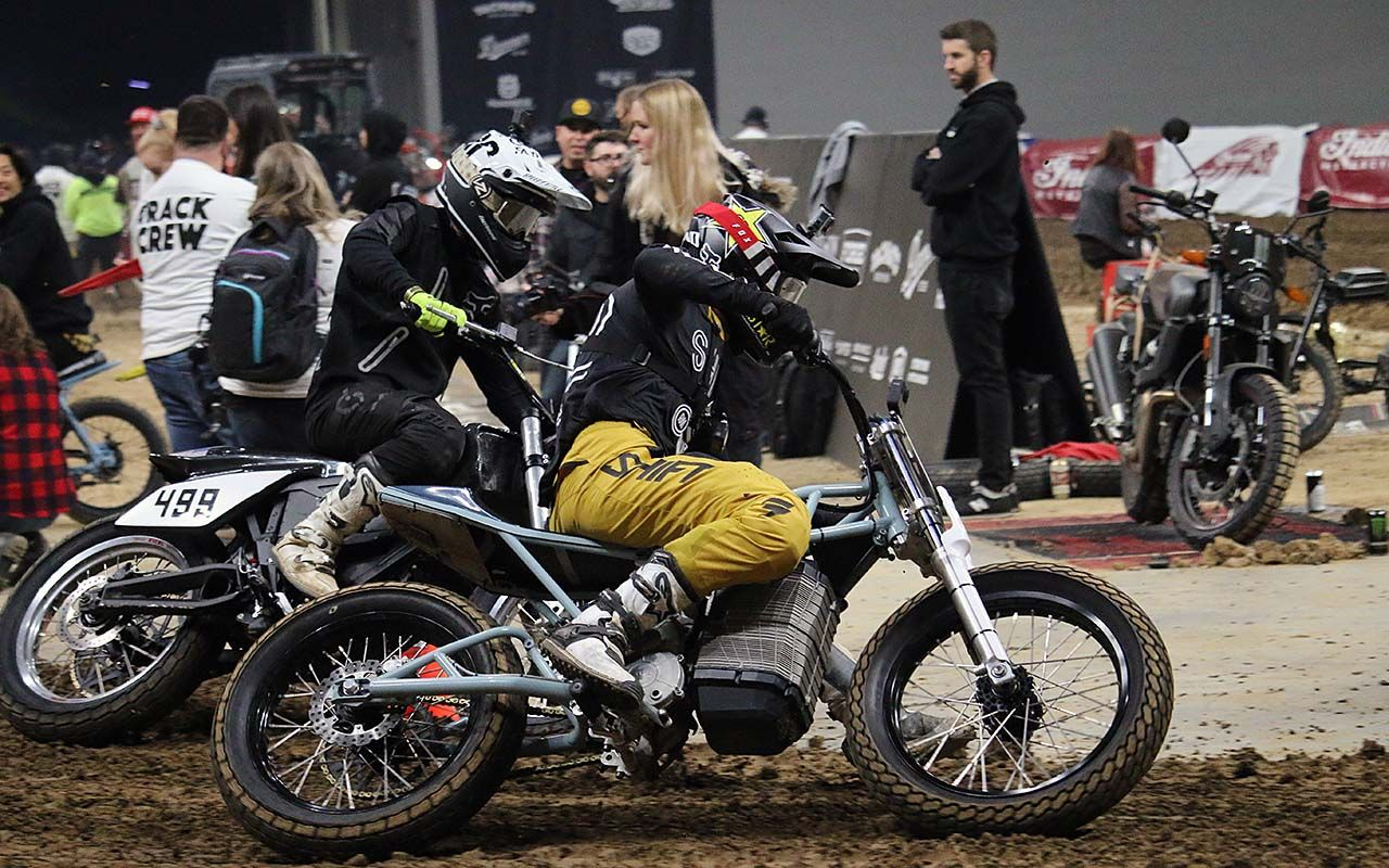 First-Ever Electric National Flat Track Race Charges up ONE Moto Show Crowd