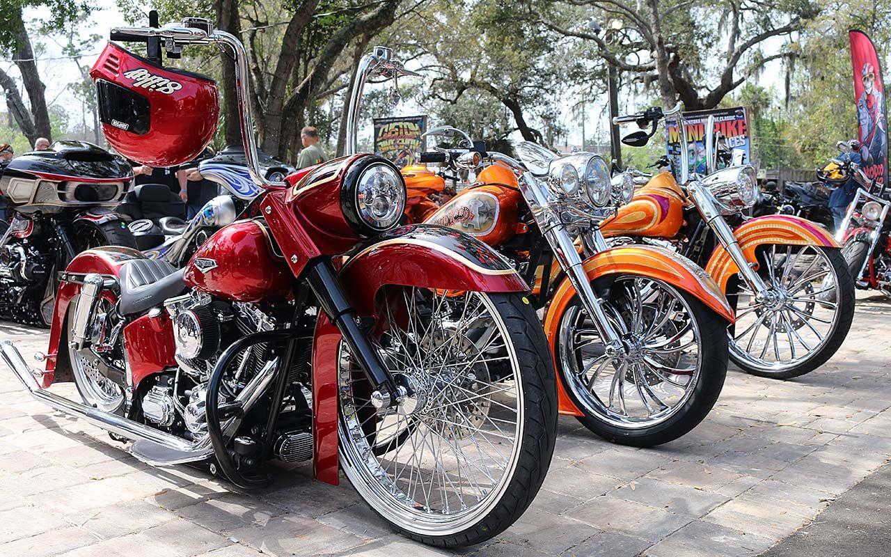 Big Wheels & Bold Paint Rule Perewitz Paint Show Bike Week 2020