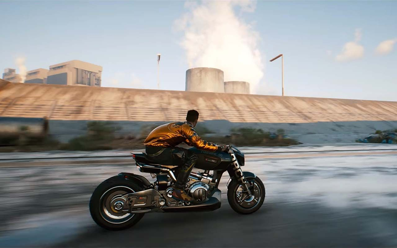 Keanu Reeves and Gard Hollinger Talk CyberPunk 2077 as Arch Motorcycle Stars