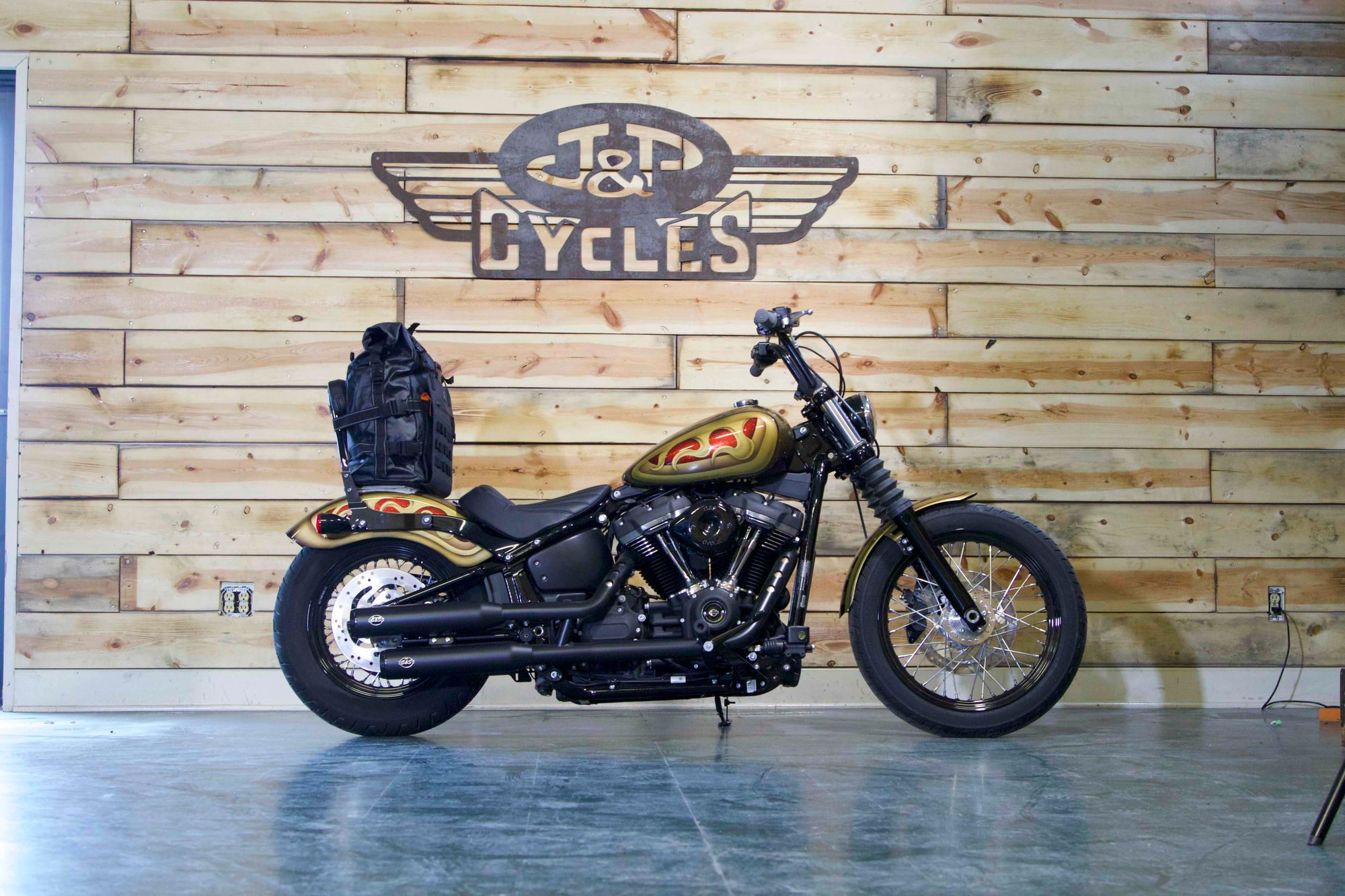 This  Custom Street Bob Could be Yours at The 81st Sturgis Rally