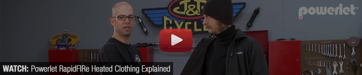 Watch: Powerlet RapidFIRe Heated Motorcycle Clothing Explained