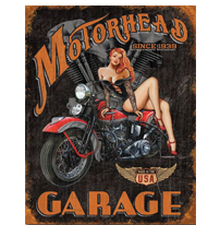 Motorhead Garage Metal Sign