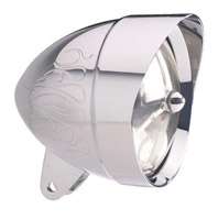 Headwinds 5-3/4″ Chrome Flamed Mariah Bullet Headlight Housing
