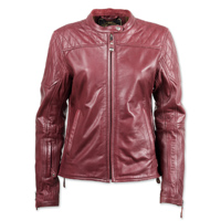 Roland Sands Design Women's Trinity Merlot Leather Jacket
