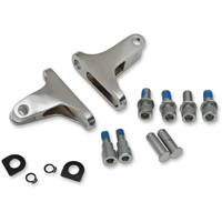 Drag Specialties Chrome Short Passenger Footpeg Mount Kit