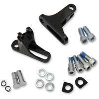 Drag Specialties Black Short Passenger Footpeg Mount Kit