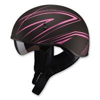 GMAX GM65 Naked Torque Flat Black/Pink Half Helmet