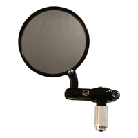 PSR-USA Non-Folding Round Bar End Mirror Black