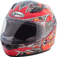 GMAX GM49Y Alien Red Youth Full Face Helmet