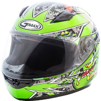GMAX GM49Y Alien Green Youth Full Face Helmet