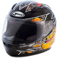 GMAX GM49Y Alien Black/Orange Youth Full Face Helmet