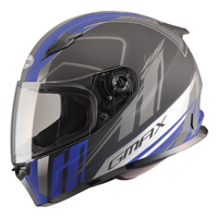GMAX FF49 Rogue Flat Black/Blue Full Face Helmet