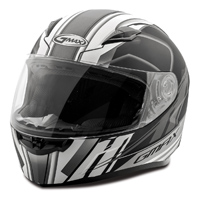 GMAX FF49 Rogue Matte Black/White Full Face Helmet
