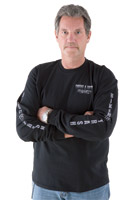 Biker Trash Men's Fatty Black Long-Sleeve T-Shirt