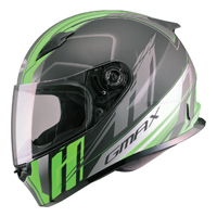 GMAX FF49 Rogue Matte Black/Hi-Vis Green Full Face Helmet