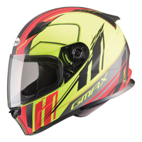 GMAX FF49 Rogue Matte Black/Hi-Viz/Red Full Face Helmet