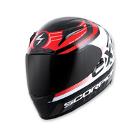 Scorpion EXO EXO-R2000 Black/Red Fortis Full Face Helmet