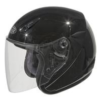 GMAX GM17 Gloss Black Open Face Helmet