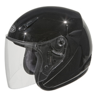 GMAX GM17 Gloss Black Open Face Helmet