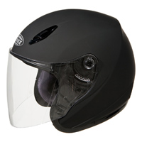 GMAX GM17 Flat Black Open Face Helmet