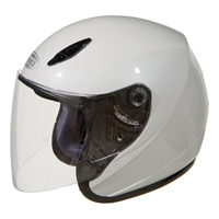 GMAX GM17 Pearl White Open Face Helmet