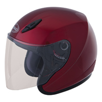 GMAX GM17 Candy Red Open Face Helmet