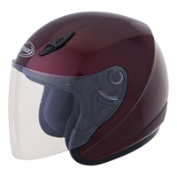 GMAX GM17 Wine Red Open Face Helmet