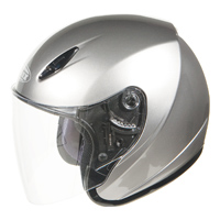 GMAX GM17 Dark Silver Metallic Open Face Helmet