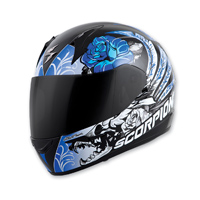 Scorpion EXO EXO-R410 Novel Blue Full Face Helmet
