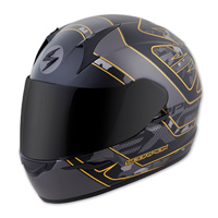 Scorpion EXO EXO-R410 Convoy Black/Gold Full Face Helmet