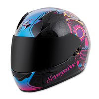 Scorpion EXO EXO-R410 Sugarskull Pink Full Face Helmet