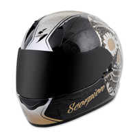 Scorpion EXO EXO-R410 Sugarskull Gold Full Face Helmet