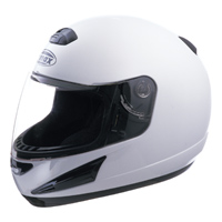 GMAX GM38 White Full Face Helmet