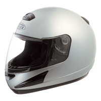 GMAX GM38 Dark Metallic Silver Full Face Helmet