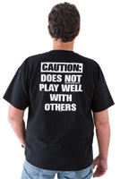 Biker Trash Men's Caution Black T- Shirt