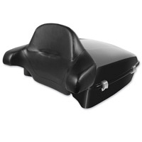 HogWorkz Vivid Black Razor TourPak with Lid and Touring Backrest