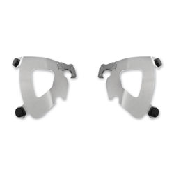 Memphis Shades Polished Plate Only Mount Kit For Bullet Fairing