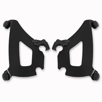 Memphis Shades Black Plate Only Mount Kit For Bullet Fairing