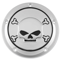 Biker's Choice Derby Cover Chrome with Skull