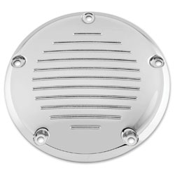 Biker's Choice Derby Cover Grooved Chrome