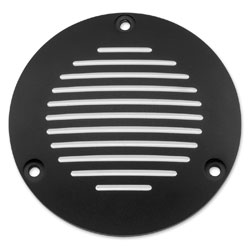 Biker's Choice Derby Cover Grooved Black