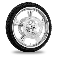 Performance Machine Wrath Chrome Front Wheel Package 21x3.5 Non-ABS
